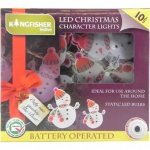 **** Kingfisher 10 CHRISTMAS CHARACTER BATTERY OPERATED LED LIGHTS [BOFSM]