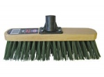 BENTLEY FORESTER 12'' STIFF GREEN PVC FILL BROOM HEAD WITH SCREW THREAD BRACKET (HEAD ONLY)