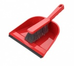 Elliotts Dustpan & Brush Set Red Soft