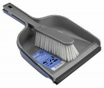 Elliotts Dustpan & Brush Set Silver Stiff