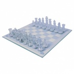 Global Gizmos 2-in-1 Benross Glass Chess and Draughts Set