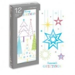 12 PORTRAIT CARDS- TREE & STARS