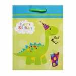 BIRTHDAY DINOSAUR MEDIUM BAG, PK of 6