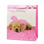 BIRTHDAY PUPPY LARGE BAG