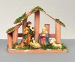 15cm Wooden Nativity with 6pc