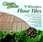 Blackspur 9pc Wooden Floor Tiles