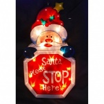 **** Kingfisher Metallic Santa Stop Light Battery Operated [MSD1B]