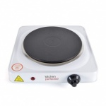 Kitchen Perfected 1500W Single Hotplate - Brushed Steel