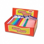 County Crepe Paper Long Fold 1.5m x 50cm - Assorted Colours