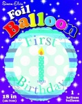 Simon Elvin 1st Birthday Boy Foil Balloons