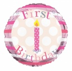 Simon Elvin 1st Birthday Girl Foil Balloons