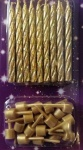 Simon Elvin 18 Gold Glittered Spiral Spiral Candles (18)