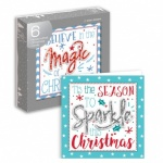 6 HANDCRAFTED CARDS- MAGIC & SPARKLE