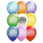 16PK EMB Happy Birthday Balloons