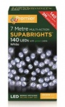 Premier 7Mtr Multi-Action Supabrights 140 LEDs Indoor & Outdoor Use - White