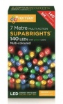 Premier 7Mtr Multi-Action Supabrights 140 LEDs Indoor & Outdoor Use - Multi Coloured
