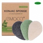 Pretty Smooth Pure Bamboo Charcoal   Konjac Sponge - Tear Drop