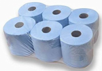 Sirius 6 Centrefeed Towel Roll 2 ply - Blue 180mm Width