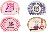 PURSE OWLS 6.5CM X 6CM 4 ASTD DESIGNS - Box of 48
