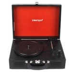Intempo Wooden Effect Record Player Turntable, Black (EE2430BLKSTK)