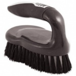 Chrome Graphite' Stiff Iron Shaped Hand Scrub Brush
