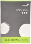 Silvine A4 Analysis book (7 column) 8mm feint and analysis, 16 leaves