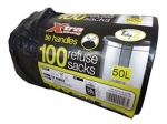 Tidyz 100 refuse sacks on a roll extra strong tie handles
