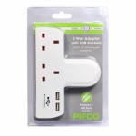 Pifco 13AMP Double Extension Socket