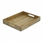 Grunwerg Mohogany wood tray 17'' x 13'' Rectangular