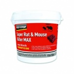 Pest Stop Super Rat & Mouse Killer MAX Wax Blocks - brodifacoum (15 x 10g)