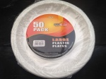 10'' Large Plastic Plates - pack of 50