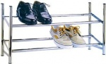 12 pair 2 tier expandable/ stack shoe rack