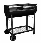 Kingfisher Half Drum Steel BBQ [OUTBBQ]