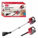 Quest 600W 0.7L Handheld Dual Cyclone Vacuum Cleaner - Red - COL BOX