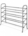 18 pair 4 tier expandable/ stack shoe rack