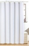 Blue Canyon Diamante Polyester Shower Curtain -White (SC500/WH)