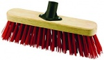 13'' Stiff Red PVC Fill Broom Head With Bracket