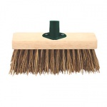 13'' Stiff Black PVC Fill Broom Head With Bracket