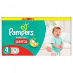 72x Pampers Baby Dry Pants Size 4 Jumbo 1x72's (8-15 kg)