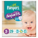 29x Pampers Active Fit, Size S3 (5kg-10kg)