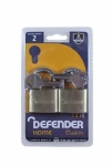 SQUIRE 40mm Brass Padlock Twin Pack Defender