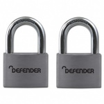 SQUIRE 40mm Aluminium Padlock Twin Pack Branded Defender
