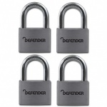 SQUIRE 40mm Aluminium Padlock Quad Pack Branded Defender