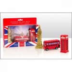 Bus, Tel Box, Big Ben Die Cast Set