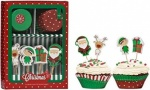 48PC CHRISTMAS CUPCAKE ASS WITH TOPPERS SET