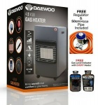 DAEWOO GAS HEATER (BLACK) WITH REGULATOR