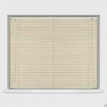 PVC Venetian Blind Longer  Drop Ivory 105cm