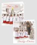 10 SQUARE CHURCH & CHOIR SCENE CARDS