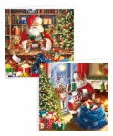 10 SQUARE INDOOR TRAD SANTA CARDS