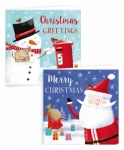10 SQUARE FROSTY SANTA & SNOWMAN CARDS